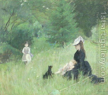 In a Park  1874 by Berthe Morisot - Reproduction Oil Painting