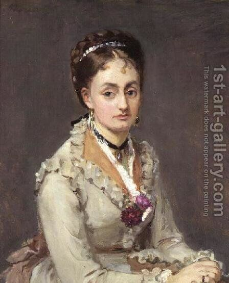 Portrait of the Artist's Sister, Mme Edma Pontillon, c.1872-75 by Berthe Morisot - Reproduction Oil Painting
