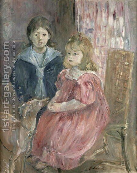 Double portrait of Charley and Jeannie Thomas children of the artist's cousin Gabriel Thomas 1894 by Berthe Morisot - Reproduction Oil Painting