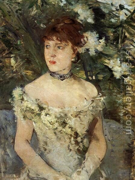 Young girl in a ball gown, 1879 by Berthe Morisot - Reproduction Oil Painting