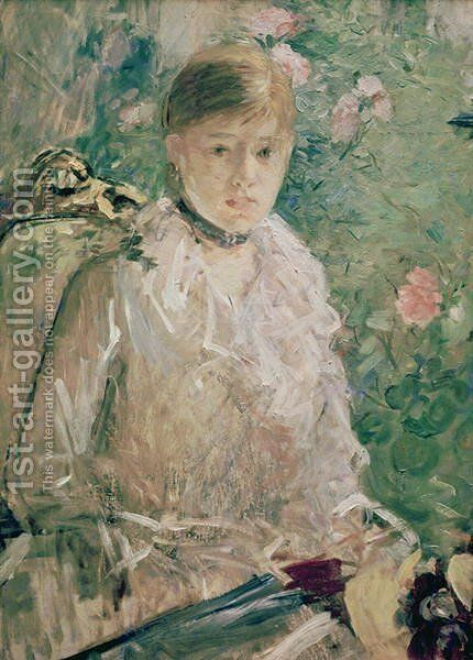 Portrait of a Young Lady by Berthe Morisot - Reproduction Oil Painting