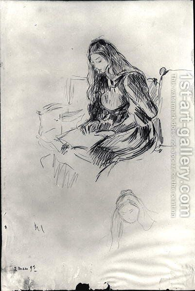 Julie Manet (1878-1966) reading  2nd March 1893 by Berthe Morisot - Reproduction Oil Painting