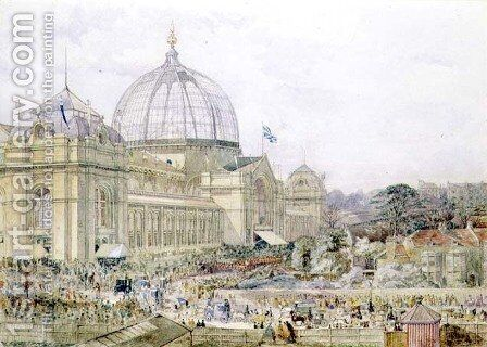 International Exhibition 1862- Official Opening by Edward Sheratt Cole - Reproduction Oil Painting