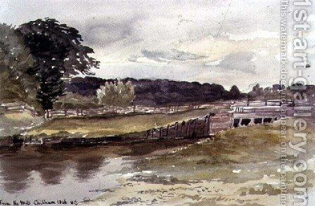 From the Mill, Chilham by Sir Henry Cole - Reproduction Oil Painting