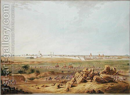 East View of Seringapatam on 15th May 1791, 1804 by (after) Robert H.Colebrooke - Reproduction Oil Painting