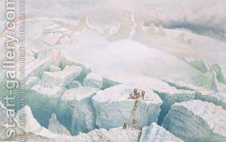 The Glacier de Tacconay 1859 by (after) Edward Thomas Coleman - Reproduction Oil Painting