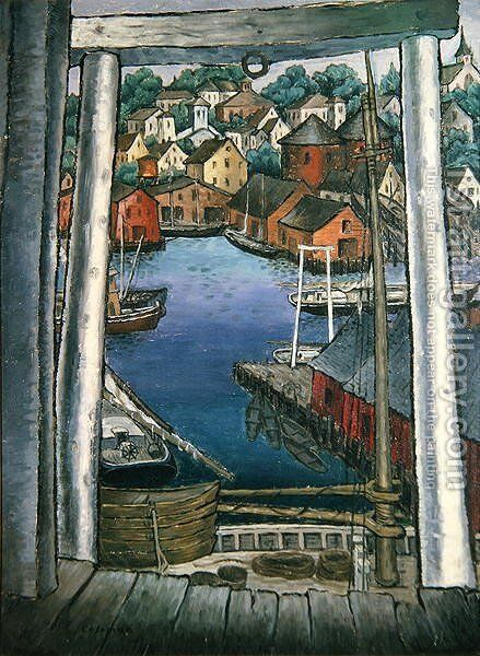 Gloucester Harbour, c.1925 by Glenn O Coleman - Reproduction Oil Painting