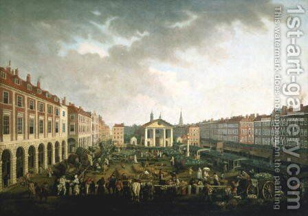 Covent Garden Piazza and Market by John Collet - Reproduction Oil Painting