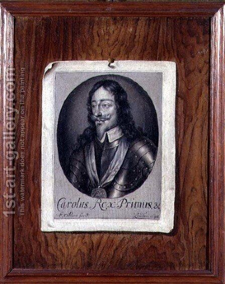 Trompe LOeil Still Life of a Print of Charles I (1600-49) 1698 by Edwart Collier - Reproduction Oil Painting