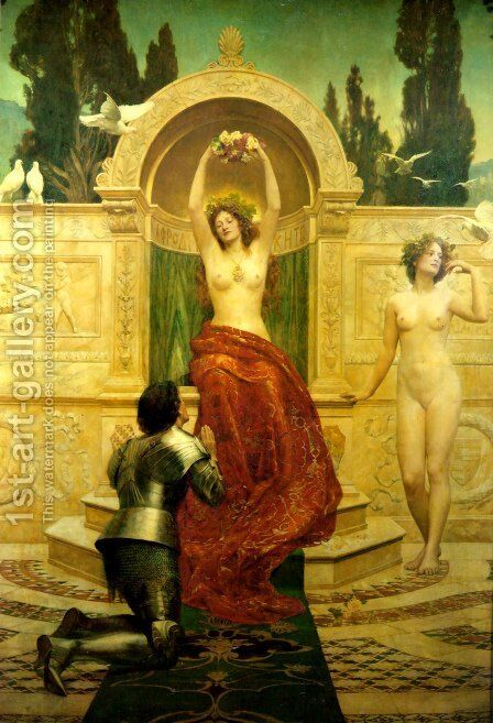 In the Venusburg (Tannhauser), 1901 by John Maler Collier - Reproduction Oil Painting