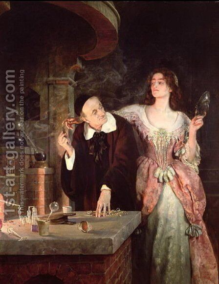 The Laboratory, 1895 by John Maler Collier - Reproduction Oil Painting