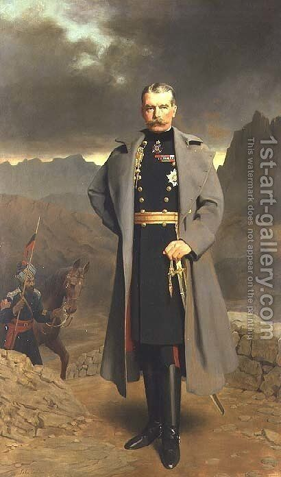 Field Marshal Earl Kitchener of Khartoum by John Maler Collier - Reproduction Oil Painting