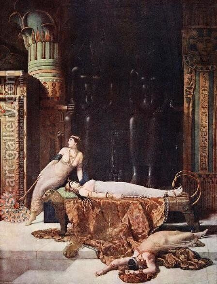 The Death of Cleopatra by John Maler Collier - Reproduction Oil Painting