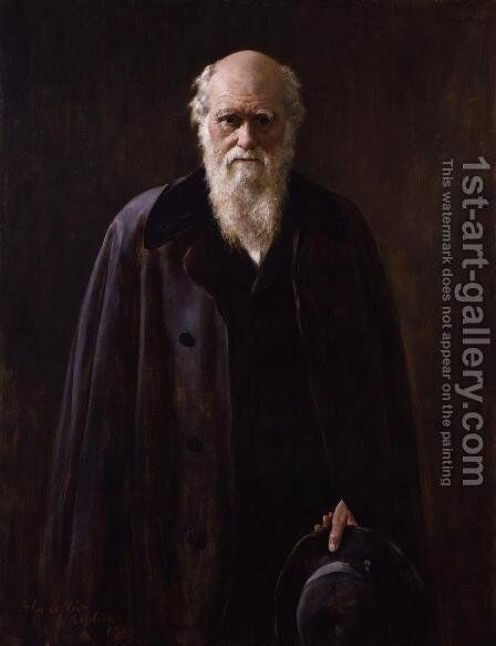 Portrait of Charles Darwin (1809-1882) 1883 by John Maler Collier - Reproduction Oil Painting