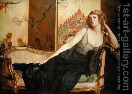 Reclining Woman by John Maler Collier - Reproduction Oil Painting