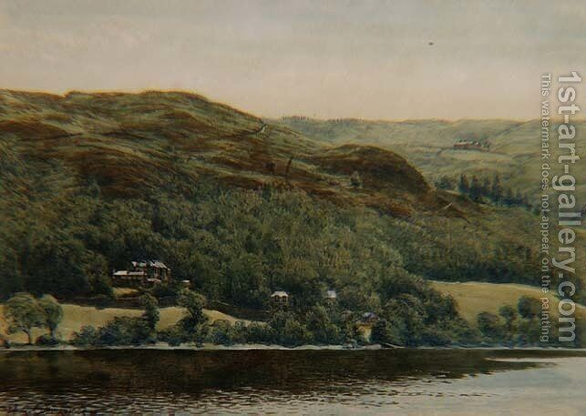 View of Brantwood 1881 Painting by William Gersham Collingwood ...
