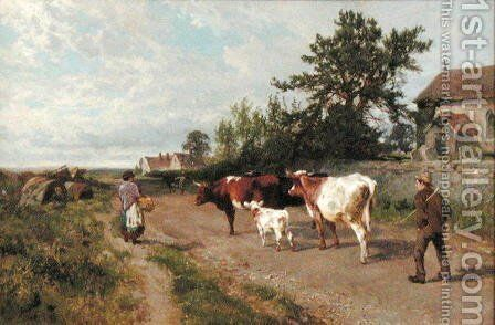 Going to Market, 1895 by Charles Collins - Reproduction Oil Painting