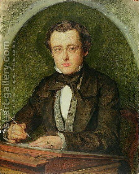 Portrait of Wilkie Collins (1824-89) 1853 by Charles Allston Collins - Reproduction Oil Painting