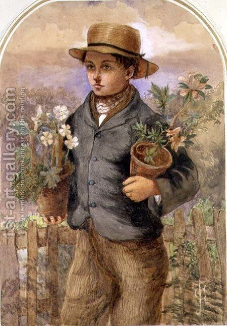 Garden Boy by James Collinson - Reproduction Oil Painting