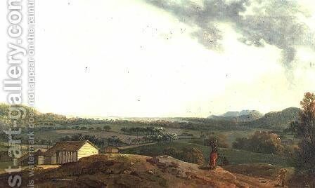 A West Indian View by Anonymous Artist - Reproduction Oil Painting