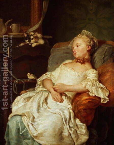 The Sleeper, 1759 by Jean Francois Colson - Reproduction Oil Painting