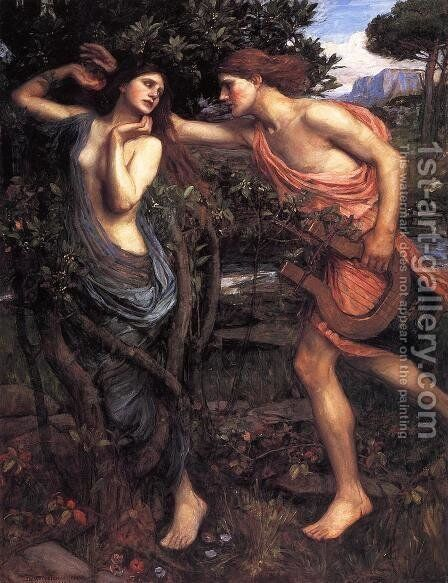 Apollo and Daphne  1908 by Waterhouse - Reproduction Oil Painting
