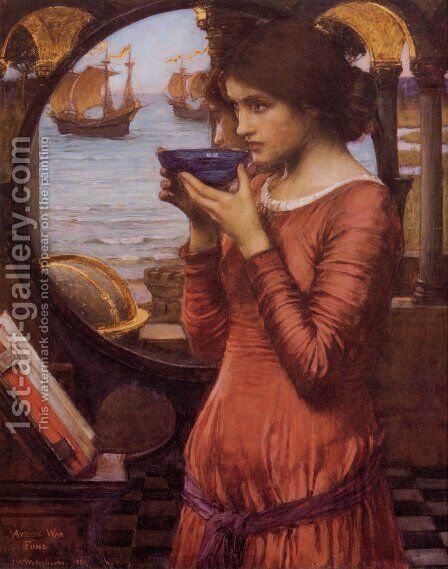 Destiny  1900 by Waterhouse - Reproduction Oil Painting