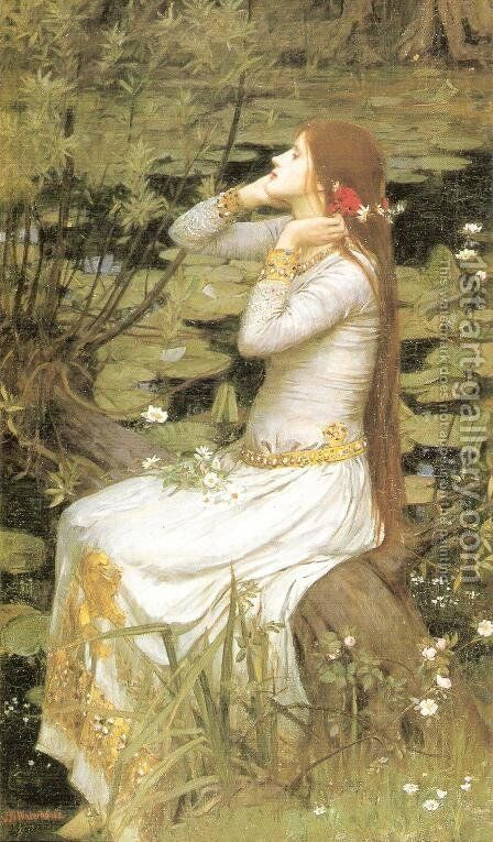 Ophelia  1894 by Waterhouse - Reproduction Oil Painting