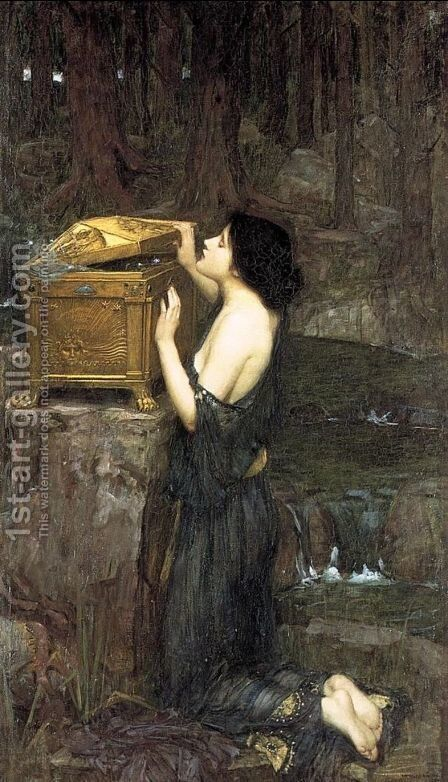 Pandora  1896 by Waterhouse - Reproduction Oil Painting