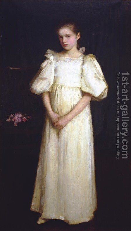 Phyllis, younger daughter of E A Waterlow, Esq  1895 by Waterhouse - Reproduction Oil Painting