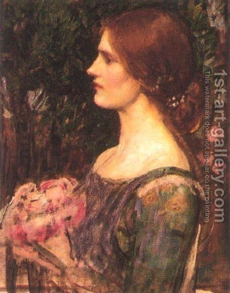 The Bouquet study 1908 by Waterhouse - Reproduction Oil Painting