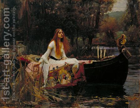 The Lady of Shalott  1888 by Waterhouse - Reproduction Oil Painting