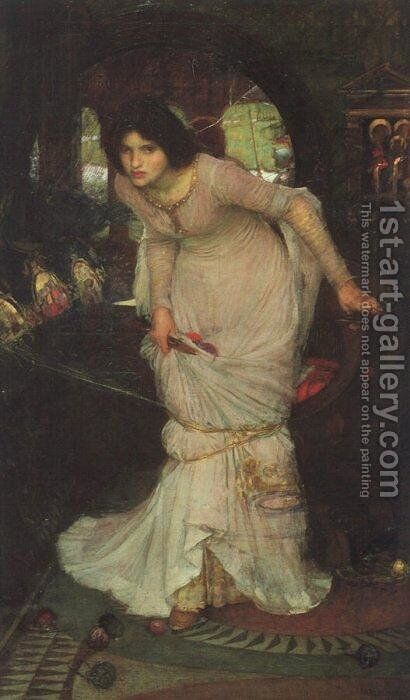 The Lady of Shalott  1894 by Waterhouse - Reproduction Oil Painting