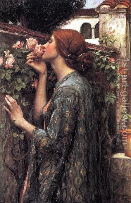 The Soul of the Rose  1908 by Waterhouse - Reproduction Oil Painting