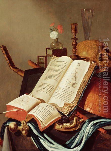Vanitas Still Life 2 by Edwart Collier - Reproduction Oil Painting