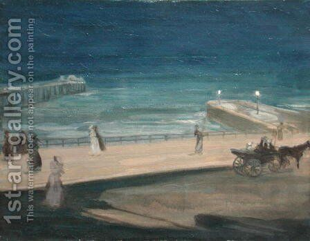 On the Pier, Brighton by Charles Edward Conder - Reproduction Oil Painting