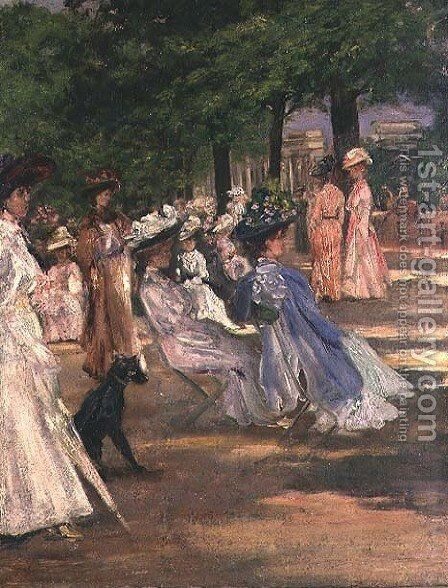 Figures in Hyde Park by Charles Edward Conder - Reproduction Oil Painting