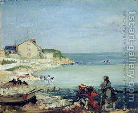 Beach Scene, Swanage by Charles Edward Conder - Reproduction Oil Painting