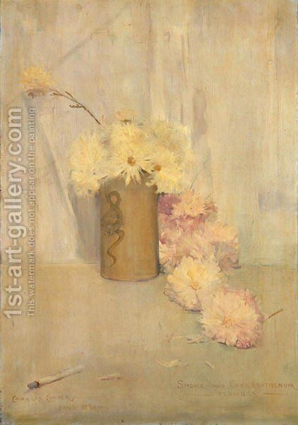 Smoke and Crysanthemum Flowers, 1890 by Charles Edward Conder - Reproduction Oil Painting