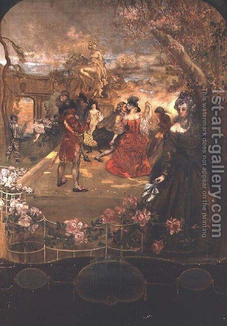 At the Ball by Charles Edward Conder - Reproduction Oil Painting