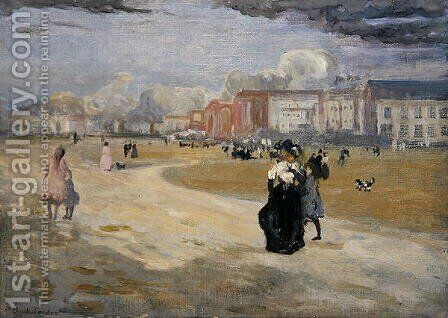 Dieppe, 1895 by Charles Edward Conder - Reproduction Oil Painting