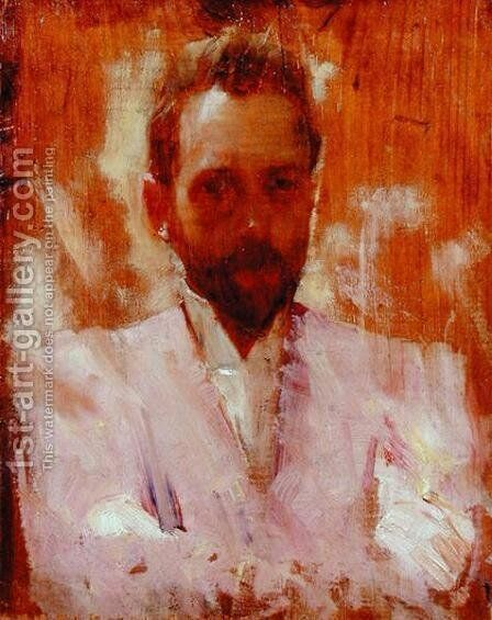 Portrait of the Painter Sir Ernest Arthur Streeton by Charles Edward Conder - Reproduction Oil Painting