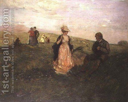 A Stroll in the Countryside by Charles Edward Conder - Reproduction Oil Painting