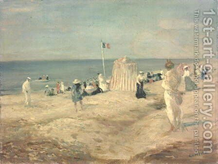 The Beach at Ambleteuse, 1901 by Charles Edward Conder - Reproduction Oil Painting