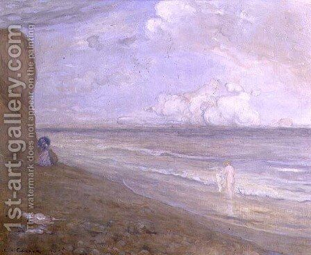Cliffs, Dieppe by Charles Edward Conder - Reproduction Oil Painting