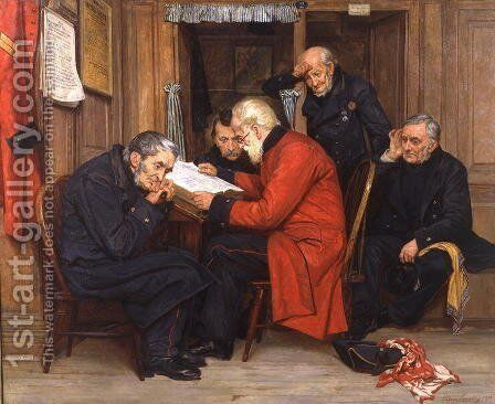 Chelsea Pensioners in the Long Wards, 1879 by Ellen Conolly - Reproduction Oil Painting