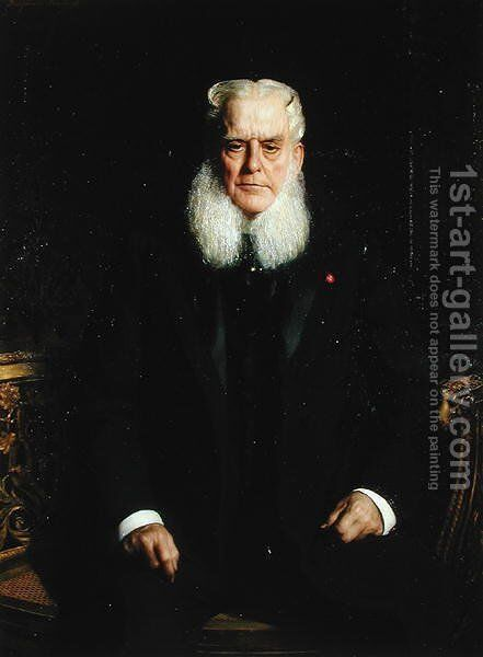Portrait of Alfred Chauchard (1821-1909) 1896 by Benjamin Jean Joseph Constant - Reproduction Oil Painting
