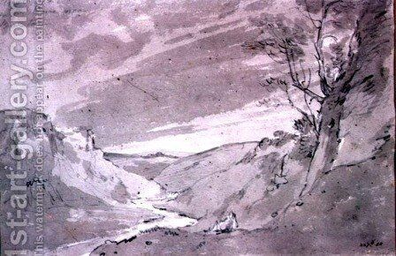 On the Dove near Buxton by John Constable - Reproduction Oil Painting