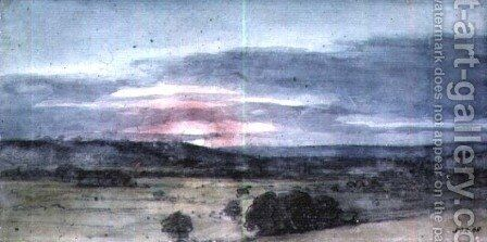 Dedham Vale from East Bergholt Sunset by John Constable - Reproduction Oil Painting