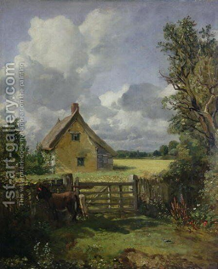 Cottage in a Cornfield, 1833 by John Constable - Reproduction Oil Painting